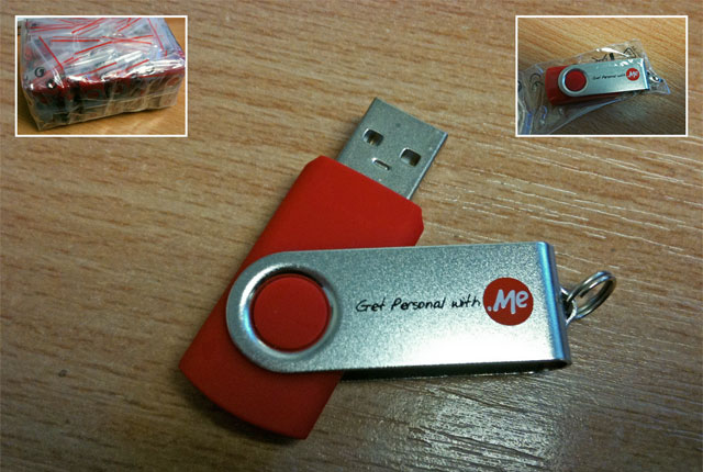 Get Personal With .Me 4GB USB Keyring